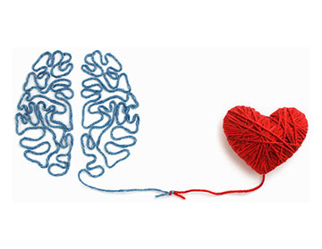 Yarn art: brain and heart, Link to Designing Environments for Memory Care Residents article