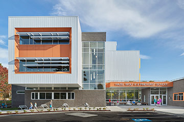 Hazel Wolf K-8 E-STEM School exterior, Link to PK-12 Schools Projects