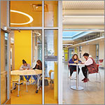 Students in study spaces, link to larger image